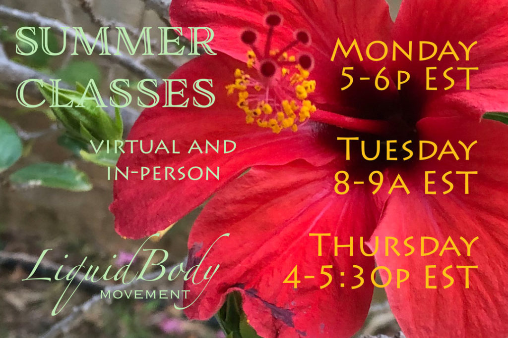 LiquidBody Summer 2019 Ongoing Class Schedule