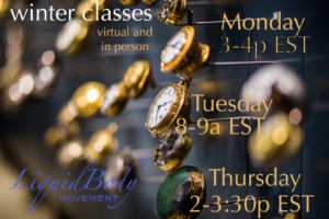 Fall and Winter Virtual and In Person LiquidBody Classes